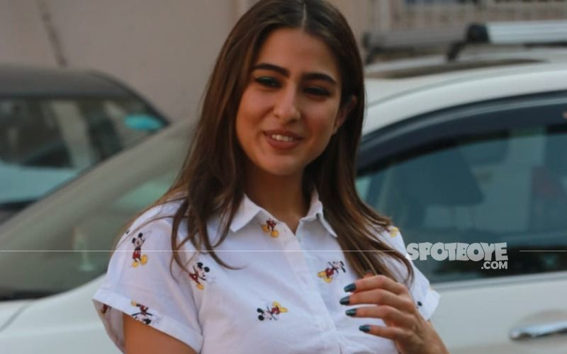 Sara Ali Khan Gives A Sneak Peek Into Her Vanity Van As She Tries To Lift Her Friend; 'Dead Weight Or Deadlift? -Watch VIDEO