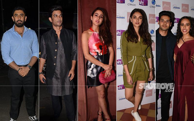 Sara Ali Khan, Aditi Rao Hydari, Daisy Shah, Tanishaa Mukerji, Sushant Singh Rajput  Arrive For Namrata Purohit's Music Video Launch