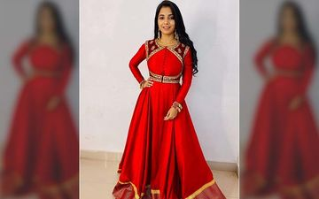 Sayali Sanjeev Mesmerises Our Senses In This Red Authentic Anarkali For Film Promotions