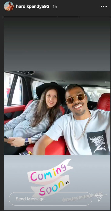 Hardik Pandyas Instagram story