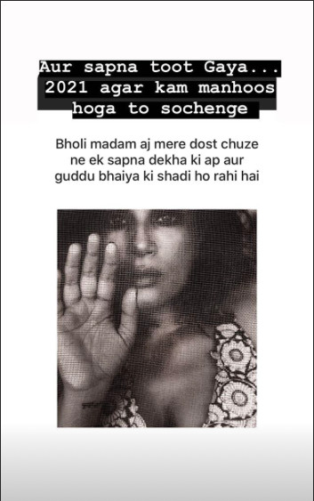 Richa Chadhas Instgram Story