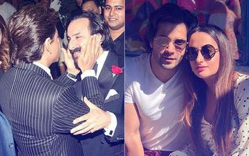 Clicks Of The Day: Shah Rukh & Saif Ali Khan's Bromance; Varun Dhawan & Girlfriend Natasha Dalal Enjoy London Vacay