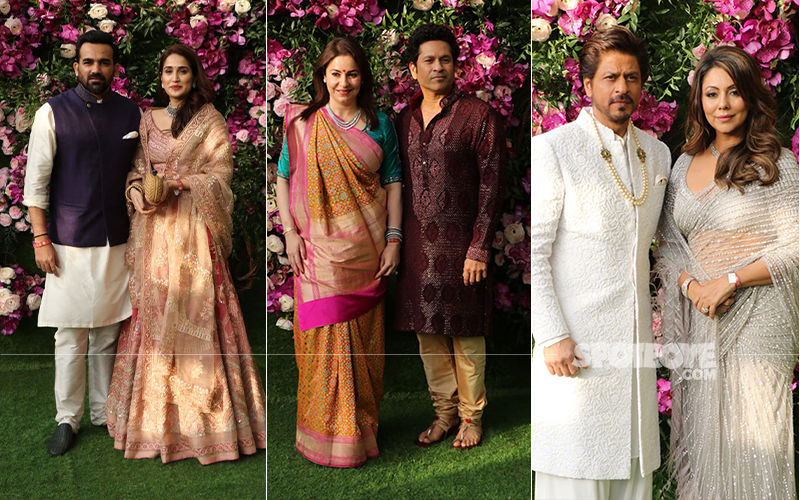 Akash Ambani-Shloka Mehta Wedding: Shah Rukh Khan, Sachin Tendulkar, Zaheer Khan Enter With Their Better Halves