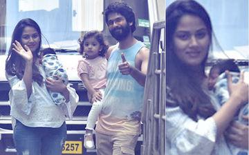 शाहिद कपूर और मीरा राजपूत के बेटे की पहली तस्वीर आयी सामने, अस्पताल से घर के लिए निकला परिवार