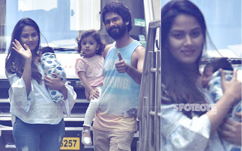 First Picture Of Shahid Kapoor-Mira Rajput's Son, Zain; Family Takes Newborn Home