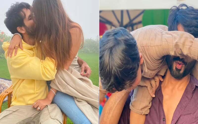 Shahid Kapoor And Mira Rajput Share A Passionate Kiss; Couple's Awwdorable Moments With Kids Misha And Zain Are Hard To Miss