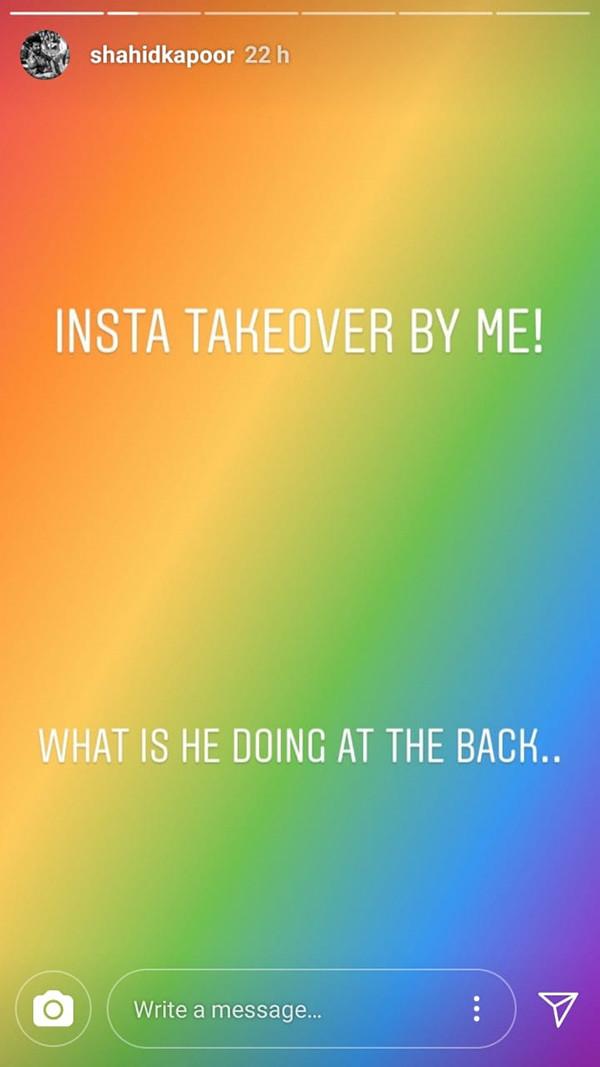 Shahid Kapoor Instagram Post