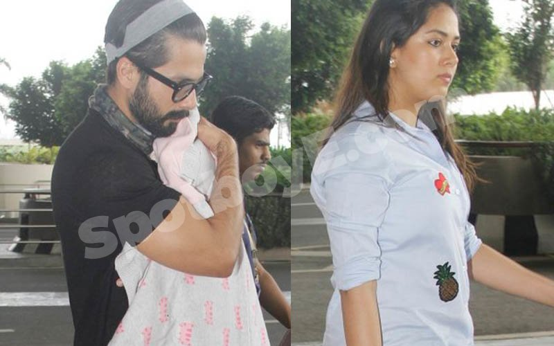 SPOTTED: Shahid Kapoor And Mira Rajput With Daughter Misha At The Airport