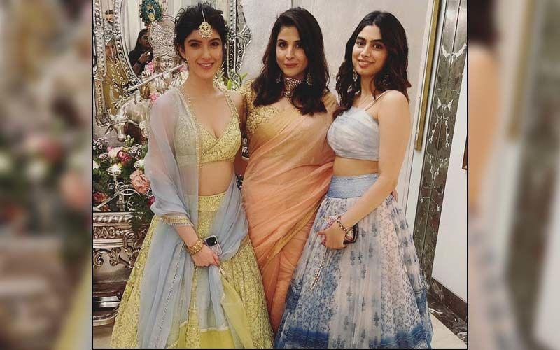 Newlywed Rhea Kapoor, Sonam Kapoor, Khushi Kapoor, Shanaya Kapoor And Others Look Stunning As They Attend Antara Marwah's 'Godh Bharai' -See Pics