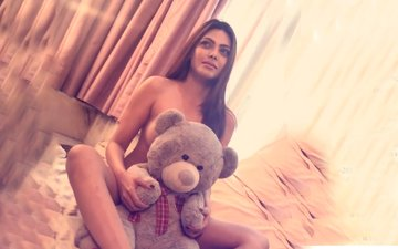 Sherlyn Chopra Bares It All, Covers Her Modesty With Just A Teddy Bear