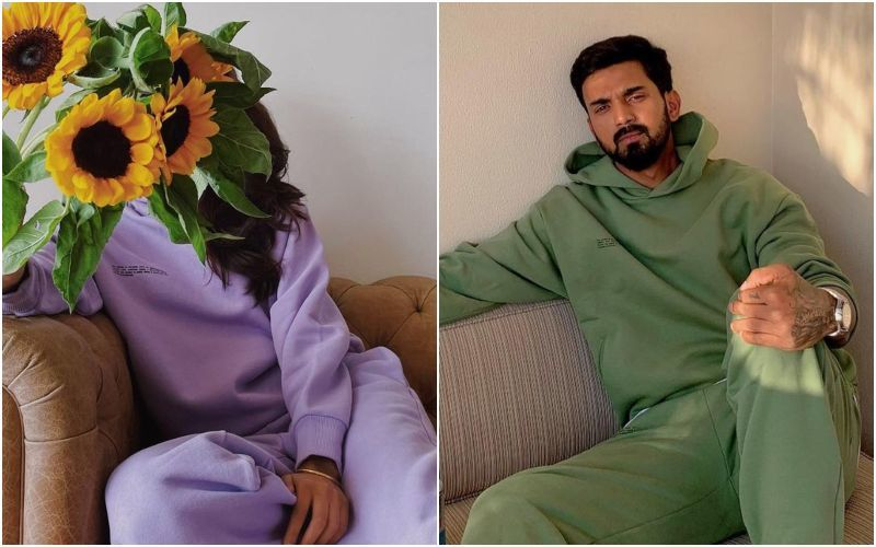 Rumoured Couple Athiya Shetty-KL Rahul Pose In Sweatsuits Of Different Colours; Fans Wonder If Actress Edited The Pic And Wore Cricketer's Outfit