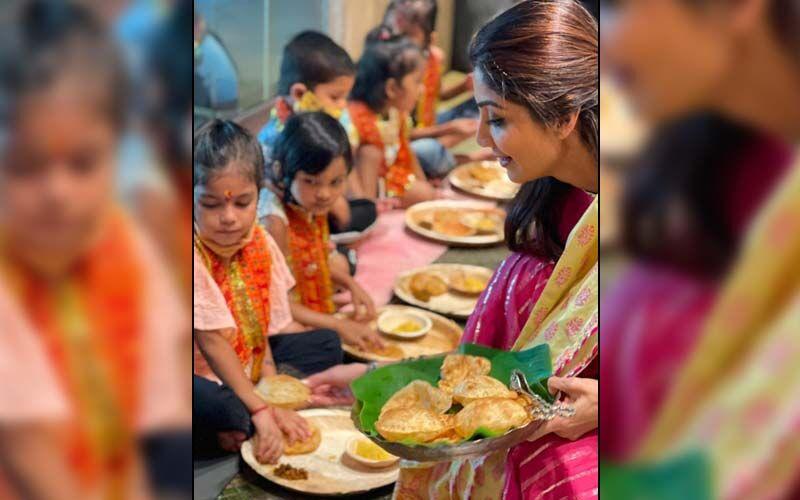 Shilpa Shetty Gives A Glimpse Into Navratri's Kanjak Puja At Her Home