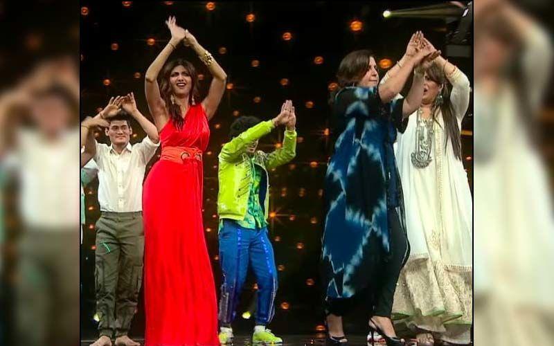 Super Dancer Chapter 4: Shilpa Shetty Does Naagin Dance With Farah Khan And Geeta Kapur On Priyanka Chopra's 'Desi Girl'-Seen It Yet?