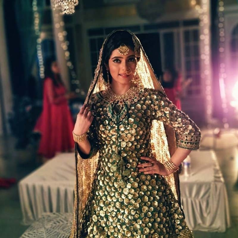 Shilpi Rana Poses In Her Golden Wear