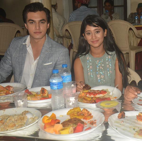Shivangi Joshi And Mohsin Khan Together Having Lunch
