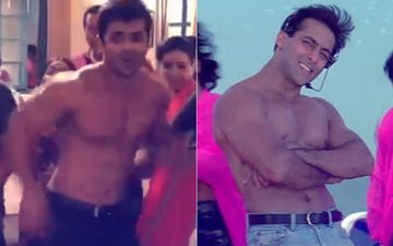 Watch: जब सलमान खान के गाने 'ओ ओ जाने जाना' पर शर्टलेस होकर किया शोएब इब्राहीम ने डांस