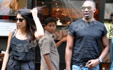CAUGHT: DJ Bravo And Shriya Saran On A Secret Lunch Date