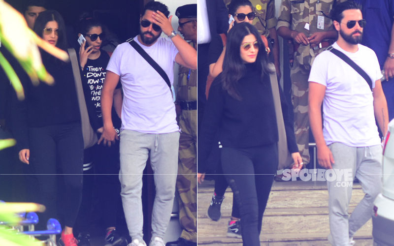 Lovebirds Shruti Haasan & Michael Corsale Hold Hands As They Return To The Bay