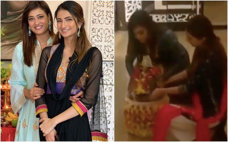 Ganesh Visarjan 2020: Shweta Tiwari And Daughter Palak Tiwari Bid Adieu To Ganpati Bappa; Actress Performs An Eco-Friendly Visarjan – Video