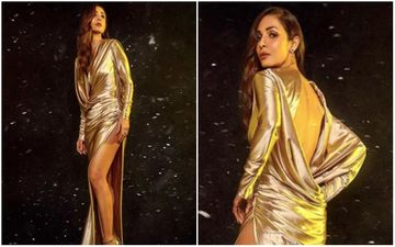 Malaika Arora Shines Bright Like 'Gold' In This Dangerously Thigh-High Slit Gown - PIC