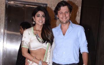 South Star Shriya Saran Finally Introduces Russian Husband To Indian Media, Kisses Him On Lips  In Front Of Paps
