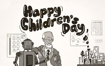 SVF Wishes Children's Day 2019 With Cute Cartoon Of Professor Shanku, Says You Cannot Miss Him