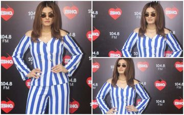 FASHION CULPRIT OF THE DAY: Raveena Tandon, Hide That Pantsuit Pronto At A Place You Can Never Find Again