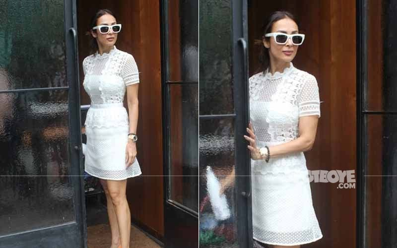 Malaika Arora Looks Smoking Hot In Her White Ensemble, But That's Not What Caught Our Attention- SEE PICTURES