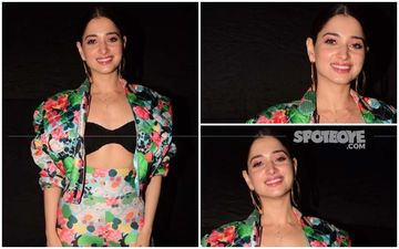 FASHION CULPRIT OF THE DAY: Tamannaah Bhatia, Looking At Your Floral Suit, Sorry, But Can't Say, 'Dil Garden Garden Ho Gaya'