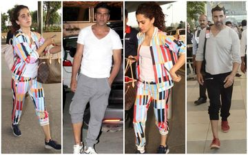 Taapsee Pannu Takes Inspiration From Baby Co-Star Akshay Kumar, Wears Trackpants The Khiladi Style!