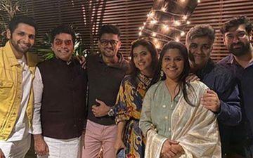 Tribhanga: Vaibhav Tatwawadi with Kajol And Renuka Shahane At The Wrap Party Of This Netflix Film