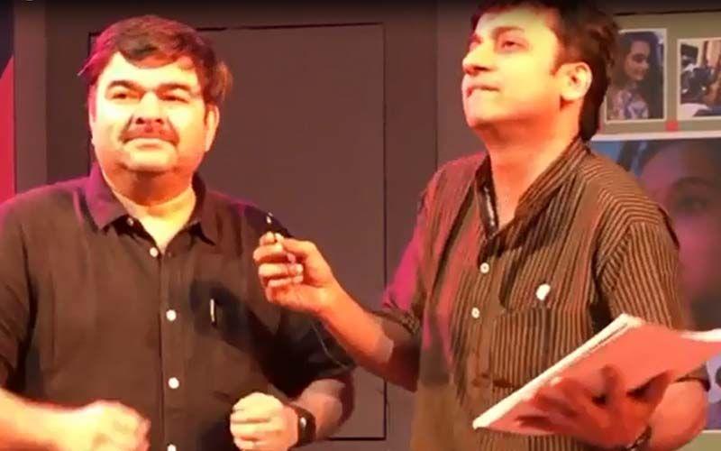 'Tu Mhanshil Tasa': Sankarshan Karhade And Prashant Damle Captured In A Hilarious Moment During Rehearsals Of The Play