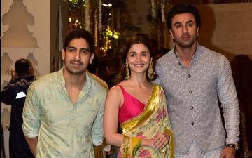Ranbir Kapoor And Alia Bhatt Make For A Stunning Couple At The Ambani Ganpati Bash