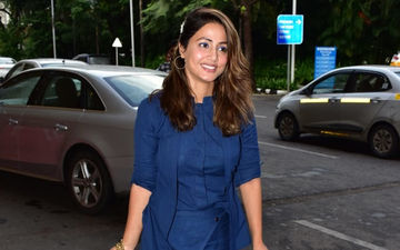Hina Khan's Blue Airport Attire Will Ward Off Your Monday Blues