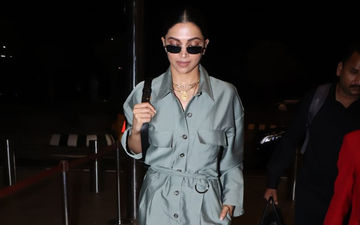 Deepika Padukone Zooms Off To Paris Fashion Week 2019 Wearing The Shiniest Jumpsuit Ever!