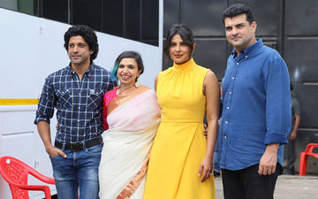 Priyanka Chopra Begins The Sky Is Pink Promotions With Farhan Akhtar Wearing A Bright Yellow Dress