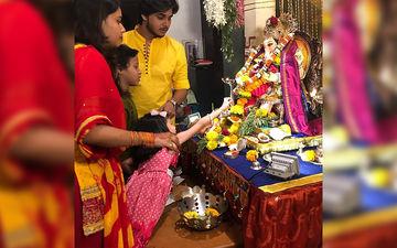 Ganesh Chaturthi 2019: Khari Biscuit Stars Visit Ganpati Bappa At Abhinay Berde's Home