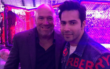 Varun Dhawan Poses With UFC President Dana White After Watching The Nail-Biting Fight Between Khabib Nurmagomedov And Dustin Poirier
