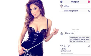 Man Offers 20 Lakh To Sofia Hayat For Spending A Night. Here's What She Blasted In Reply...