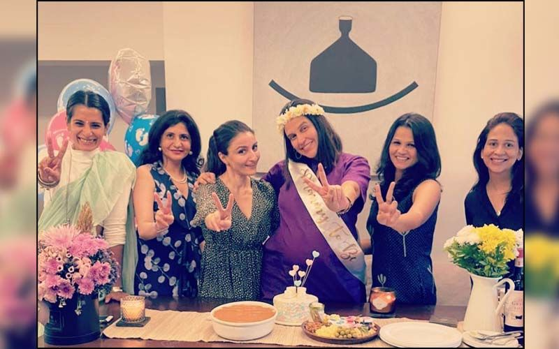 Neha Dhupia Gives A Glimpse Of Her 'Surprise' Baby Shower With Angad Bedi, Soha Ali Khan And Daughter Mehr; Says, 'Baby Mama Loved It'