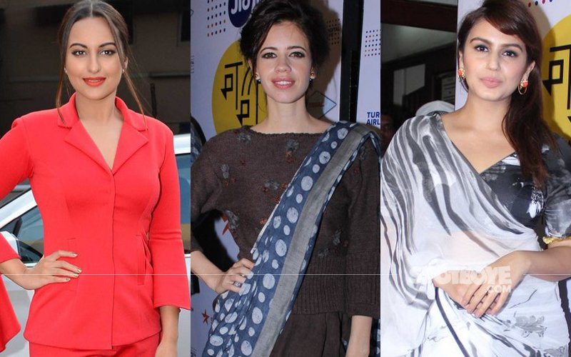 Sonakshi makes a red-hot statement while Kalki and Huma show of the nine yards at MAMI