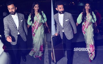 Sonam Kapoor & Anand Ahuja Land In Delhi. Wedding Party On The Cards?