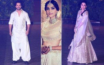 Sonam Kapoor's Mehendi: Varun Dhawan & Karisma Kapoor Make A Starry Entry