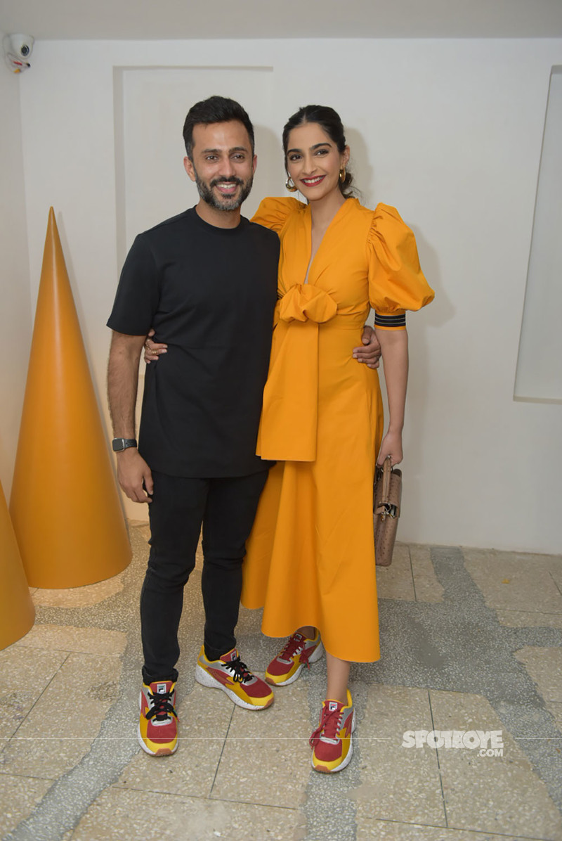 830e3aeb767b Sonam Kapoor and Anand Ahuja inaugurated a new range of Fila shoes  Image  Source   Viral Bhayani