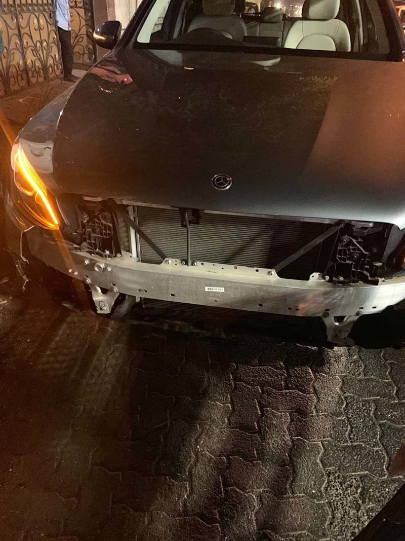 Sophie Chaudhrys Damaged Car