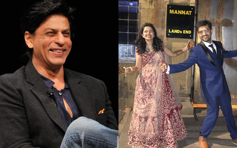 A Newlywed Couple Enacts Shah Rukh Khan's Iconic Pose Outside Mannat And King Khan Reacts To It
