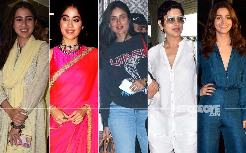 STUNNER OR BUMMER: Sara Ali Khan, Janhvi Kapoor, Kareena Kapoor Khan, Sonali Bendre Or Alia Bhatt?