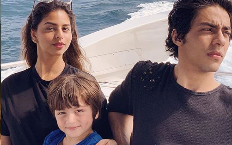 Suhana Khan's Throwback Picture Painting With AbRam Is Priceless, Not To Miss Aryan Khan's Abs