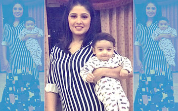 First Picture: Sunidhi Chauhan Introduces Son To The World