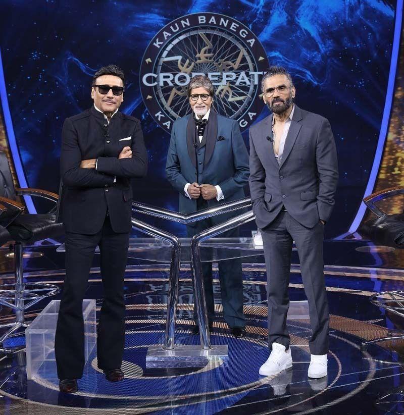 Kaun Banega Crorepati 13: Suniel Shetty Flexes His Muscles Along With Jackie Shroff To Impress Amitabh Bachchan
